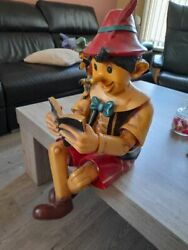 Extremely Rare Walt Disney Pinocchio And Jiminy Cricket Big Self Sitter Statue