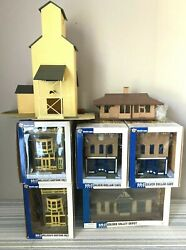 Walthers-cornerstone/lionel-o/o-27 Scale Old Town And Farm Buildings-lot Of 7-used