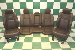 13-19 Ram Longhorn Brown Leather Dual Power Heated Cooled Bucket Seats Backseat