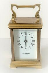 Vintage Taylor And Bligh Brass Carriage Clock For Parts Or Repair