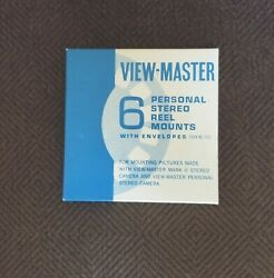 6 Pack View Master Blank Personal Stereo Reel Mounts - New Old Stock