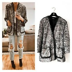 Evening Sparkly 2018 Fall Collection Fringe Trim Cc Buttons Blazer Jacket