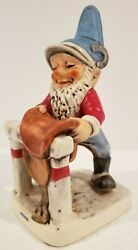 Goebel Co-boy And039herbie The Horsemanand039 Merry Gnome Porcelain Made In Germany