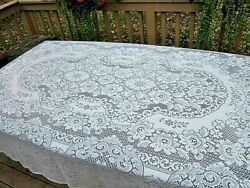 Vintage Quaker Lace Cream Rectangle Tablecloth 70 X 108 With Tag