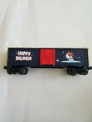 Lot Of 3 Train Cars - Lionel Christmas Vapor Boxcar 6-26228, 6-36213 + Other