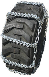 Snow Chains 17.5l 24 17.5l-24 V-bar Ladder Tractor Tire Chains Set Of 2