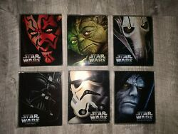 Star Wars Blu-ray Steelbook Episode 1 2 3 4 5 6 All With Protective Sleeves
