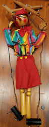 24 Marionette Wooden Pinocchio Hand Made