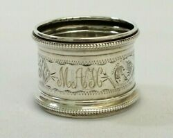 Antique 1922 Sterling Silver Rolason Brothers Monogramed M Etched Napkin Ring