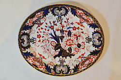 Royal Crown Derby Kings Imari 12 X 10 Hand-painted, Gold Accented Platter