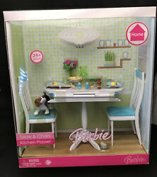 Barbie Table And Chairs Kitchen Play-setnrf Mint And Sealed Boxhome Collection