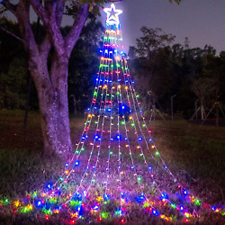 Christmas Decorations Outdoor Star Lights, 320 Led Curtain String Lights