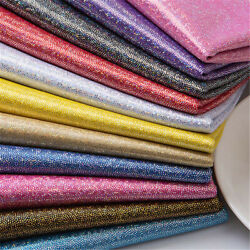 Glitter Colorful Laser Gilding Fabric 62 Width 1y Wedding Stage Costume Decor