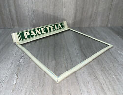 1930s Panetela Cigar Box Lid Cover Glass Display Advertising Tin Sign Gas Oil