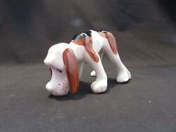 Vintage MCM Droopy Hound Dog Small Ceramic Figure Made In Japan Signed