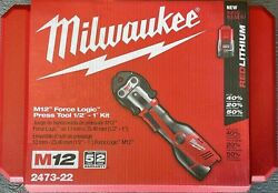 Milwaukee M12 Force Logic Cordless Press Tool Kit 3 Jaws Included 2473-22
