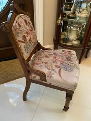 Vintage Antique Sofa Couch Wood French Louis