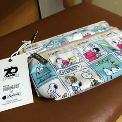 LeSportsac Snoopy Comic Pattern Pouch Cosmetic Clutch