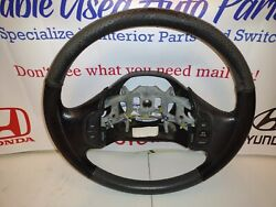 Ford F150 Expedition Steering Wheel Black Leather 97-03 Oem
