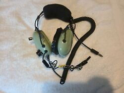 David Clark H10-76 Pilot Aviation Headset With Mic Nice Condition Read
