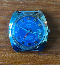 Vintage 1975 Timex Electric Dynabeat Time Zone Menandrsquos Watch For Parts