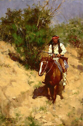 Howard Terpning Apache Scout, Native American, Giclee Canvas Artist Proof 11/30