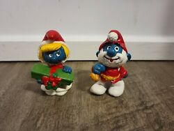 Vintage Smurfs Figures Lot Of 11 From 1980s 1990s Great Condition