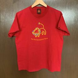 90s Made In Usa The Lion King Vintage T-shirt Thrift Disney Red Musical Aladdin