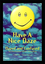 Dazed And Confused Cinemasterpieces Rare Advance Movie Poster Smiley Face 1993