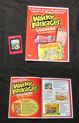 Wacky Packages 2004 Mr. Coffin Promo Card and Promotional Retailer Kit Flyer