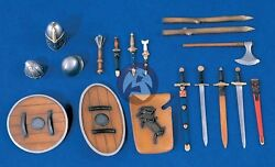 Verlinden 120mm 1/16 Medieval Weapons, Shields And Accessories Set 1309
