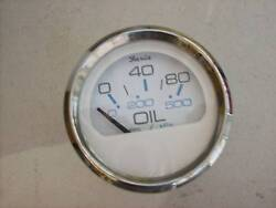 New Crownline Faria Ss/white Oil Gauge 34301