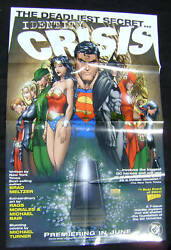 Identity Crisis Promotional Poster 2004 Michael Turner 22 X 34 Inches Dc Comics