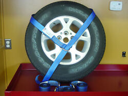8 - 8ft Lasso O Ring Tow Dolly Flat Bed Auto Transport Tie Down Axle Dot Blue