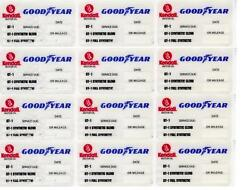 20 Kendall Goodyear Static Cling Oil Change Sticker