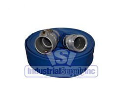 Water Discharge Hose | 1-1/2 X 100ft | Blue | Camlocks | Import | Free Shipping