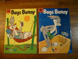 Bugs Bunny 47 And 48. 1956 Dell Comic Books