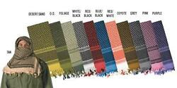 Shemagh 100 Cotton Arab Scarf Keffiyeh Fashion Scarf Real Heavy All Colors