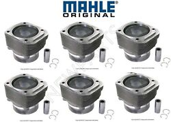 For Porsche 911 Turbo 3.6l H6 1996-1997 Set Of 6 Piston And Cylinder Oem