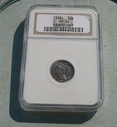 1881 Proof 3 Cents Nickel Ngc Pf 65 - Free Shipping