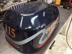 1999 Evinrude Ficht 115 Hp 2 Stroke Engine Top Cowl Cover Shroud Freshwater Mn