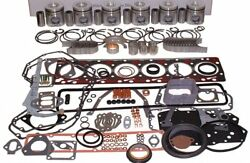 Isuzu 6bb1 Engine Kit Diesel Forklift Truck 5.4l Pistons Sleeves Gaskets Rings+