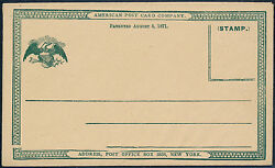 E862 American Postcard Co. Letter Card Essay -- Extremely Rare -- Hv3296
