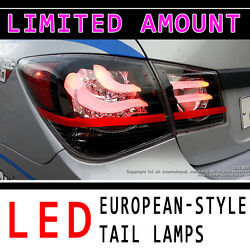 Led Rear European Style Tail Lamps Assembly 4p For 2008 2012 Chevy Cruze