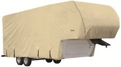 Goldline Rv Trailer 5th Wheel Cover Fits 32 To 34 Foot Tan