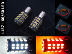 Type 2 1157 2357 3497 White Amber Switchback 120 Led Dual Colors + Resistors