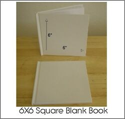 All Plain Blank White Hard Cover Book - Stories Guest Book 6x6 28 Pgs.