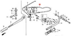 17910-zw6-702 Honda Marine Tiller Handle Throttle Cable For Bf2d And Bf2.3d