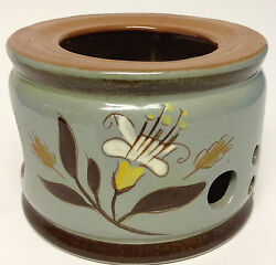 Stangl Pottery Golden Harvest China Warmer Stand Candle Holder Has Chip N.j.