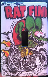 RAT FINK  RAT ROD LIGHT SWITCH PLATE COVER HOME DECOR